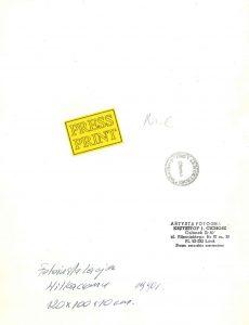 CICHOSZ KRZYSZTOF - Fotoisntalacja Witkacemu [vintage print]