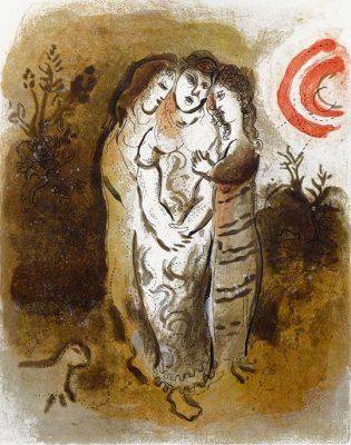 CHAGALL MARC Noemi i jej synowe (Biblia) [litografia]
