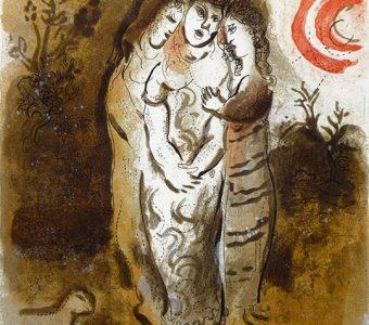 CHAGALL MARC - Noemi i jej synowe (Biblia) [litografia]