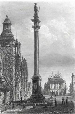 A. Guillaumot Kolumna Zygmunta III w Warszawie [staloryt]