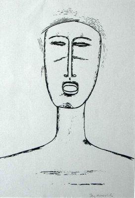 NOWOSIELSKI JERZY Portret [serigrafia]