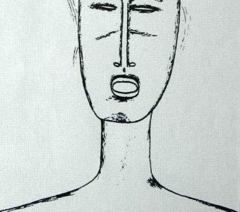 NOWOSIELSKI JERZY - Portret [serigrafia]