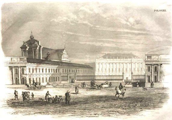 Pałac Namiestnikowski w Warszawie [staloryt]