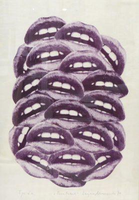 MIANOWSKI LUCJAN Pocałunek [litografia sygnowana]