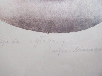 MIANOWSKI LUCJAN - Głowa 7 [litografia sygnowana]