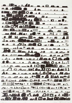TARASIN JAN Nieskończony rejestr [serigrafia, sygnowana]