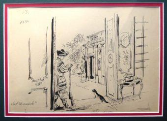 SZANCER JAN MARCIN - Żart olszowiecki [rysunek piórkiem]