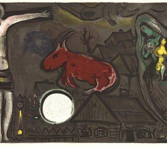 CHAGALL MARC - Mistyczne Ukrzyżowanie [litografia]