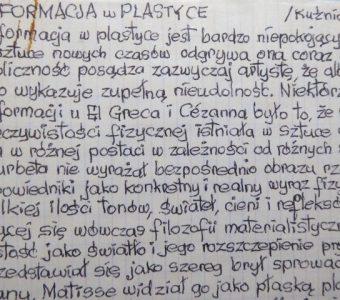 STAŻEWSKI HENRYK - Deformacja w plastyce [rękopis]