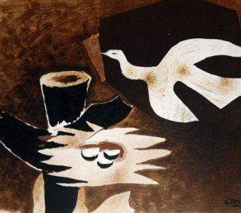 BRAQUE GEORGES - Ptak i jego gniazdo [litografia]