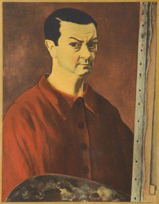 KISLING MOJŻESZ Autoportret [litografia]