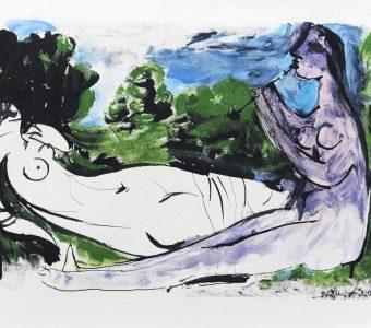 PICASSO PABLO - Femme nue... [litografia]