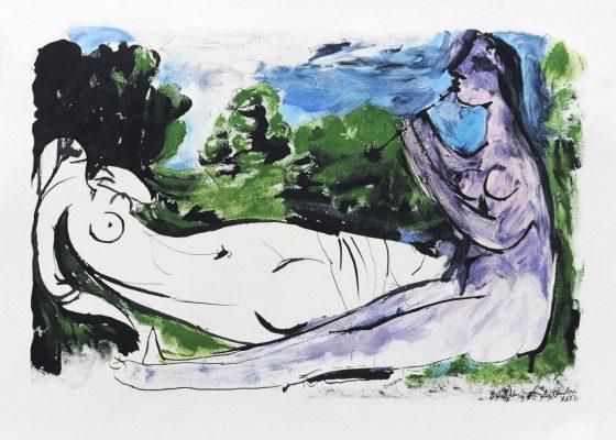 PICASSO PABLO Femme nue… [litografia]