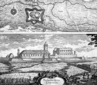 PUFENDORF SAMUEL, DAHLBERGH ERIK - Zamek w Łowiczu [miedzioryt]