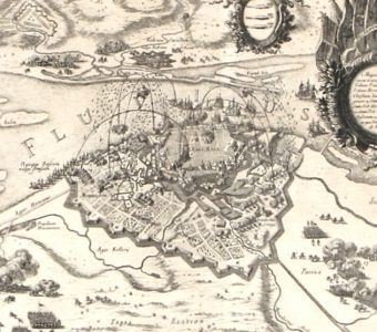 PUFENDORF SAMUEL, DAHLBERGH ERIK - Panorama Rygi [miedzioryt]