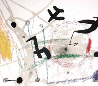 MIRO JOAN - Ptaki [litografia]