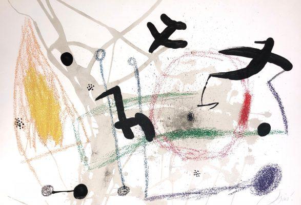 MIRO JOAN Ptaki [litografia]