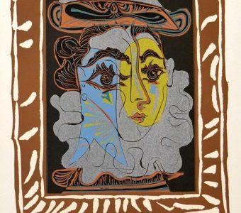 PICASSO PABLO - Kobieta w kapeluszu [linoryt]