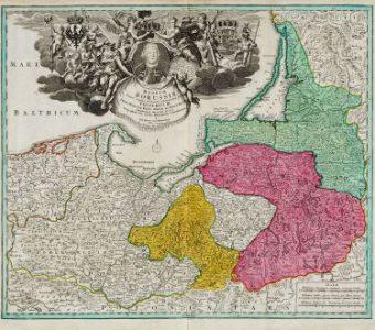 HOMANN JOHANN B. - Mapa Prus [miedzioryt]