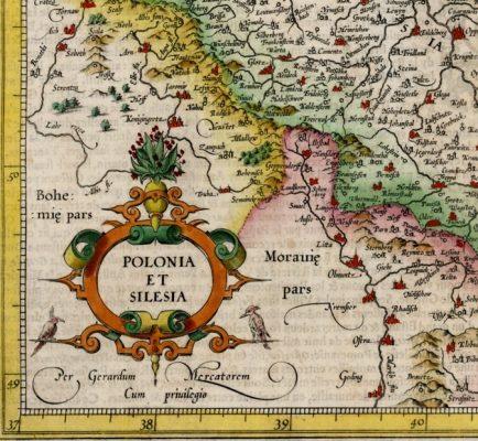 MERCATOR GERARD Mapa Polski i Śląska [miedzioryt]