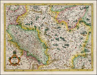 MERCATOR GERARD - Mapa Polski i Śląska [miedzioryt]