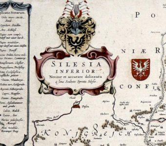 SCULTETUS JONAS - Mapa Śląska [miedzioryt]