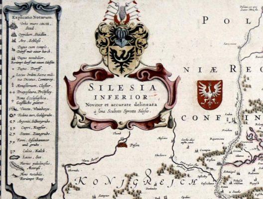 SCULTETUS JONAS Mapa Śląska [miedzioryt]