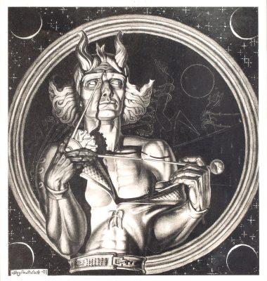 SZUKALSKI STANISŁAW Kopernik [grafika, ręcznie sygnowana]