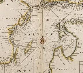 SEALE R. W. A correct chart of the Baltick [Mapa Bałtyku]