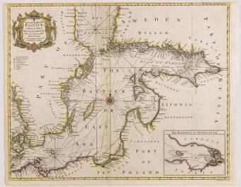 SEALE R. W. - A correct chart of the Baltick [Mapa Bałtyku]