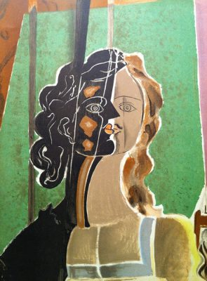 BRAQUE GEORGES Portret [litografia]