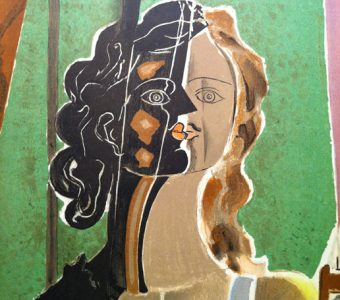BRAQUE GEORGES - Portret [litografia]