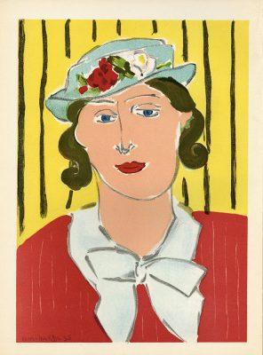 MATISSE HENRI Kobieta w kapeluszu [litografia]