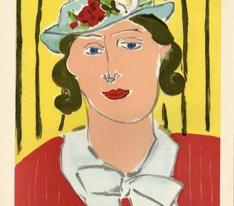 MATISSE HENRI - Kobieta w kapeluszu [litografia]
