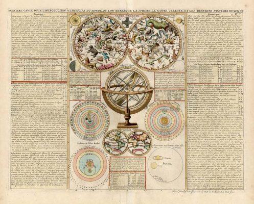 CHATELAIN HENRI A. Mapa nieba