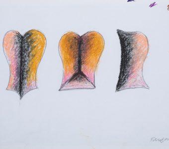 FANGOR WOJCIECH - Projekt rzeźby Symetria 2 [rysunek]