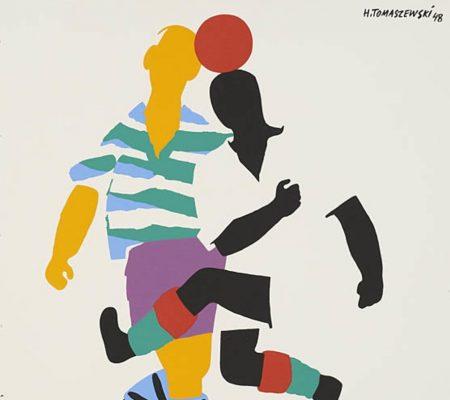 TOMASZEWSKI HENRYK Football [plakat, sygnowany]