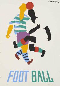 TOMASZEWSKI HENRYK - Football [plakat, sygnowany]