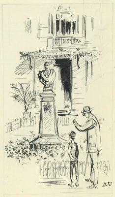 UNIECHOWSKI ANTONI Przed pomnikiem Balzaca