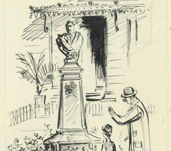 UNIECHOWSKI ANTONI - Przed pomnikiem Balzaca