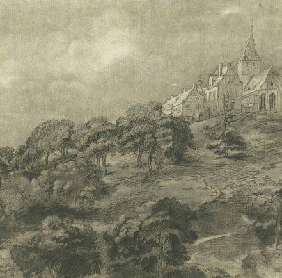 CHODOWIECKI DANIEL Krajobraz według Rembrandta