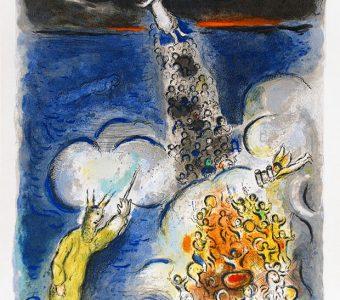 CHAGALL MARC - Przejście przez Morze Czerwone [litografia]