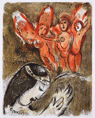 CHAGALL MARC Sara i Aniołowie [litografia]