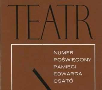 TOMASZEWSKI HENRYK - Teatr [projekt okładki, gwasz]