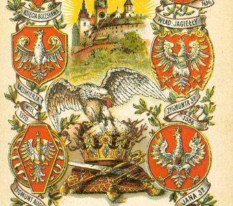 Orły na Wawelu [pocztówka]