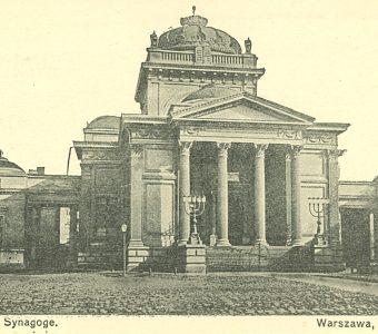 Synagoga w Warszawie [pocztówka]