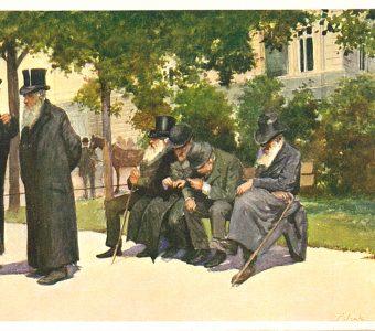 Lwowskie typy - żydowskie [pocztówka]