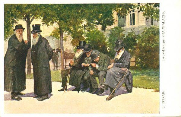 Lwowskie typy – żydowskie [pocztówka]