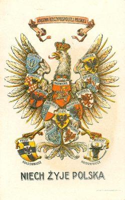 Niech żyje Polska [pocztówka]