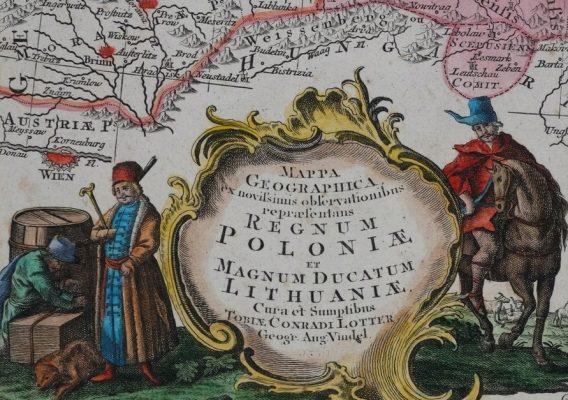 LOTTER TOBIAS CONRAD Regnum Poloniae.. [Mapa Polski]
